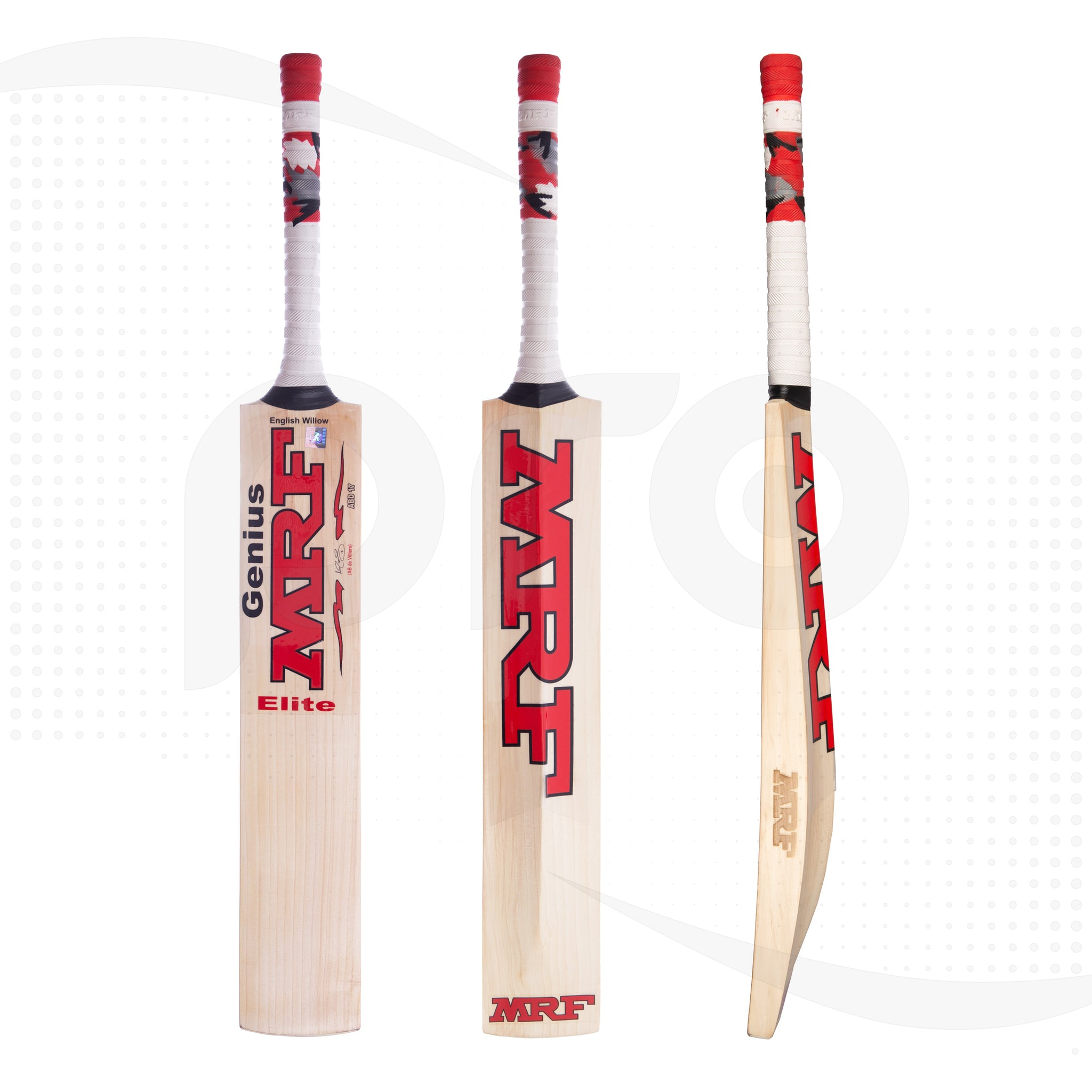 e9729d9c55a MRF Genius Elite AB De Villiers English Willow Cricket Bat – Pro Cricket