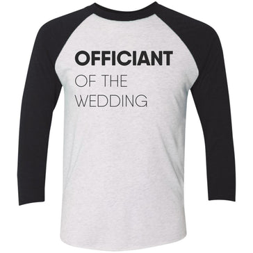 Officiant Block Baseball T-Shirt