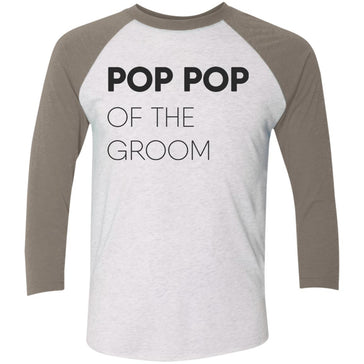 Pop Pop of The Groom Block Baseball T-Shirt