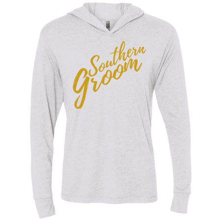 Southern Groom Triblend Lightweight Hooded Shirt - Inspire Charleston Tees
