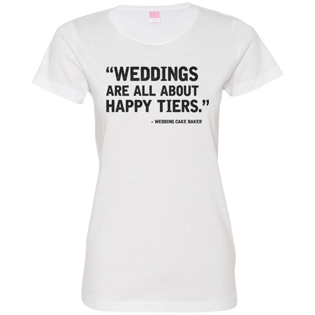 Happy Tiers Wedding Cake Baker Jersey T-Shirt - Inspire Charleston Tees