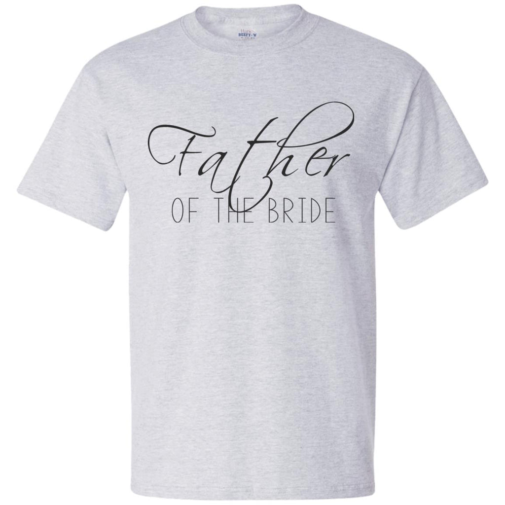 Father of The Bride Script Beefy T-Shirt