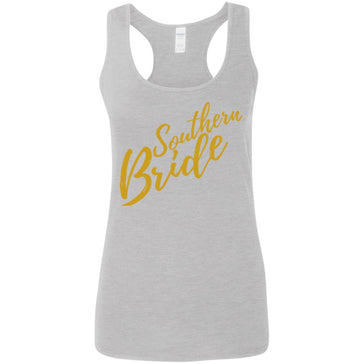 Southern Bride Gold Softstyle Racerback Tank - Inspire Charleston Tees