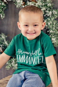His Name Shall Be IMMANUEL Infant & Toddler Tee