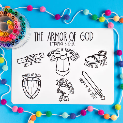 Armor of God Coloring Mat