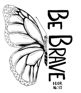 5 pack of Be Brave Butterfly tattoos