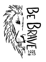 5 pack of Be Brave lion temporary tattoos