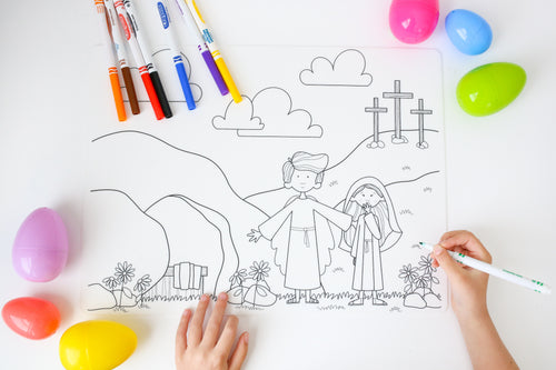 Easter Coloring Mat