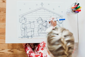 Nativity Coloring Mat