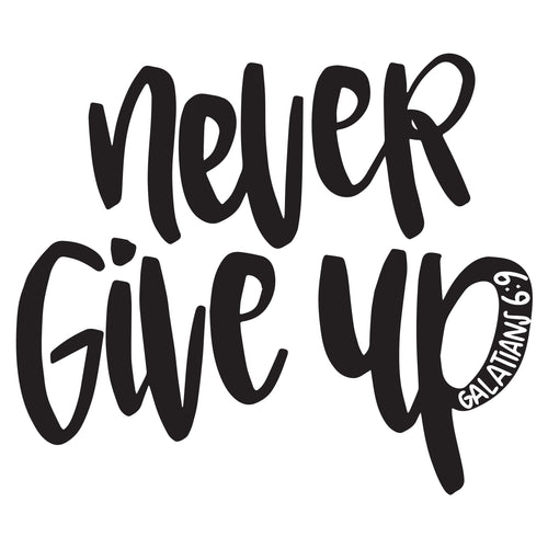 5 pack of Never Give Up tattoos