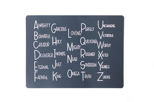 ABC's of God Placemat
