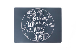 In the beginning Genesis 1:1 Placemat