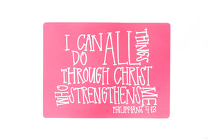 I can do all things Phil 4:13 Placemat