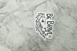 Be Brave Lion Sticker
