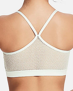 Lace back dance crop top
