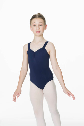 NAVY WIDE STRAP LEOTARD (Child)