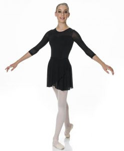 Black ballet wrap skirt