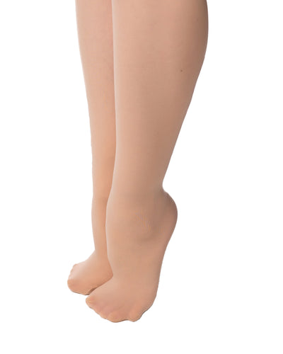 Studio 7 convertible tan tights on legs