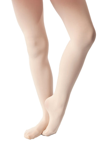 Studio 7 adult convertible ballet tights in salmon pink