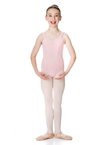 Studio 7 Pink Wide Strap Leotard (Child)
