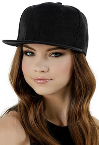 Adjustable black baseball cap