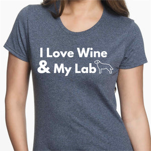 I Love Wine & My Lab T-Shirt