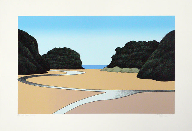 Don Binney, Mill Creek, 2011,  edition of 75,  screenprint,  paper size: 700 x 1000mm