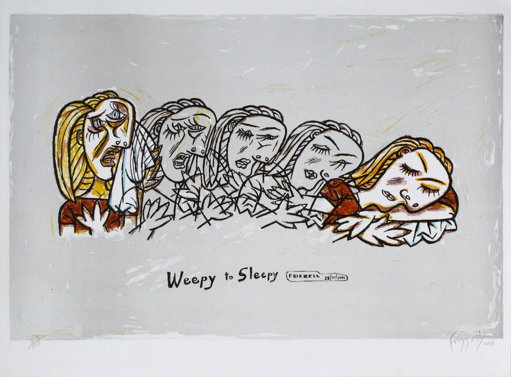 Frizzell_2001_Weepy to Sleepy_lithograph_560 x 755mm_aFRI418-01
