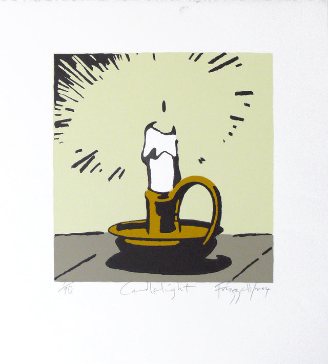 Frizzell_2004_Candlelight_screenprint on Fabriano artistico white 300gsm_500x450mm_aFRI611-04
