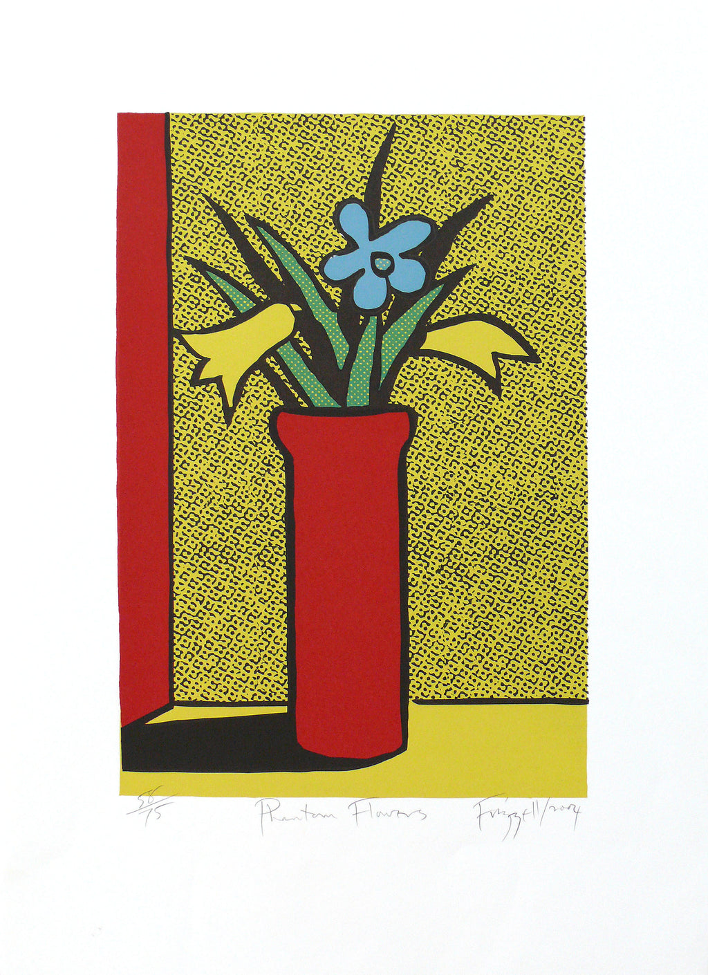 Frizzell_2004_Phantom Flowers_silkscreen on paper_700 x 500mm_aFRI547-04