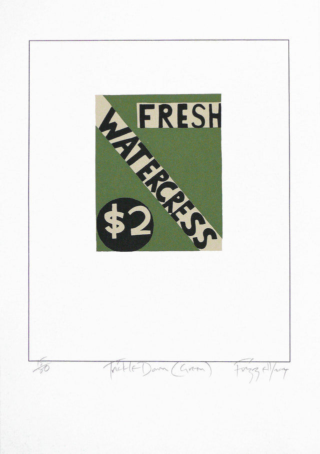 Frizzell_2004_Trickle Down (green)_screenprint on Fabriano_700 x 495mm_aFRI610-04