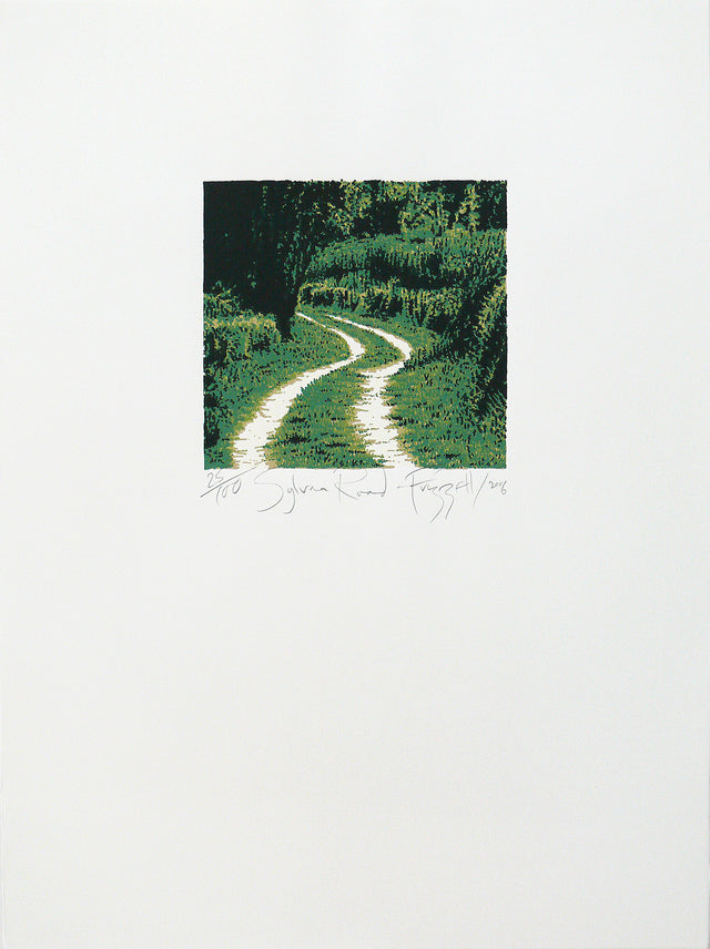 Dick Frizzell, Sylvan Road, 2006, edition of 100, screenprint on Fabriano artistico white 300 gsm, 755 x 570mm