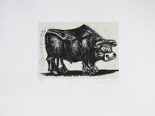 Dick Frizzell, Bull, 2007, edition of 75, screenprint on Fabriano artistico white 300 gsm, 600 x 790 mm