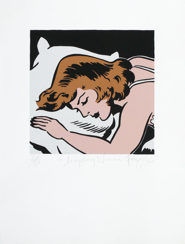 Dick Frizzell, Sleeping Woman, 2008, edition of 80, screenprint on fabriano 300gsm, 760 x 560mm