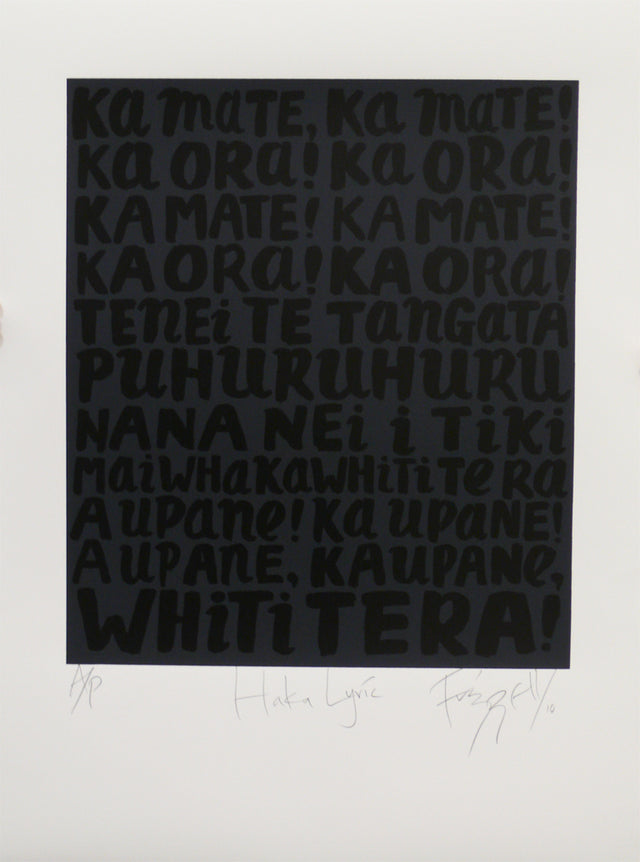 Frizzell_2010_Haka Lyrics_screenprint_758x558mm_aFRI773-10