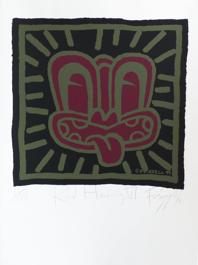 Dick Frizzell, Red Haring VI, 2010, edition of 100, screenprint on BFK Rives (300gsm), 800 x 610mm