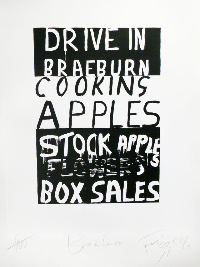 Dick Frizzell, Braeburn, 2011, edition of 100, screenprint on paper, 765 x 560mm
