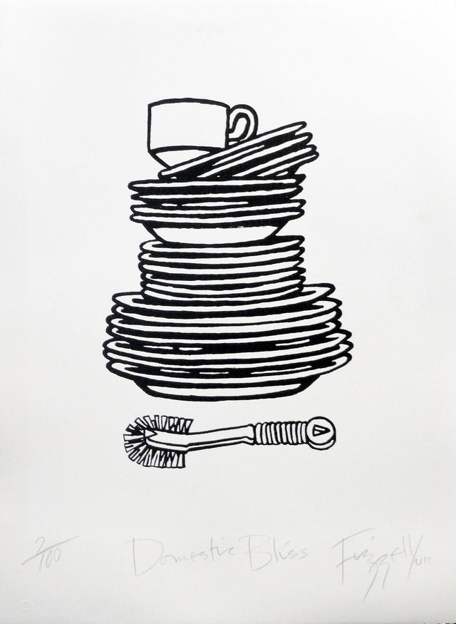 Dick Frizzell, Domestic Bliss, 2011, edition of 100, screenprint, 770 x 540mm