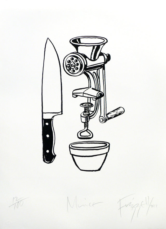 Dick Frizzell, Mince, 2011, edition of 100, screenprint, 760 x 560mm