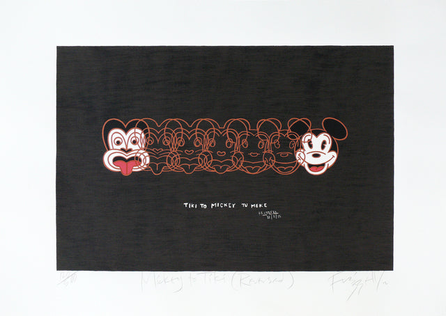 Dick Frizzell, Mickey to Tiki (Reversed), 2012, edition of 500, screenprint, 695 x 1000 mm