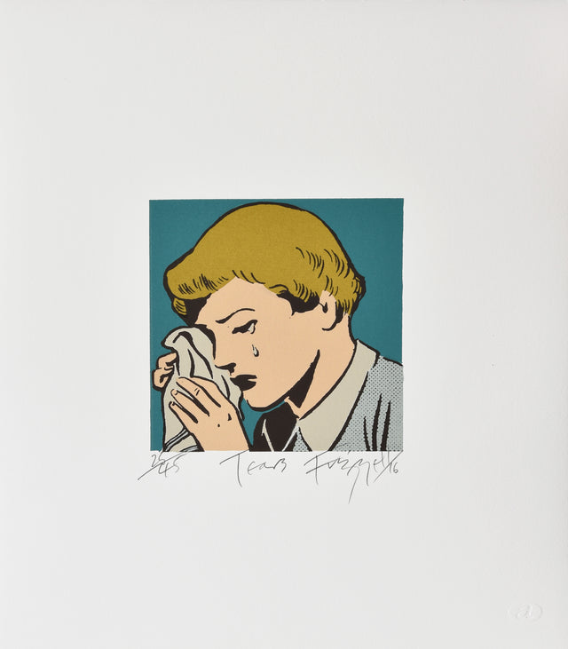 Dick Frizzell, Tears, 2016, edition of 45, screenprint, 400 x 350mm