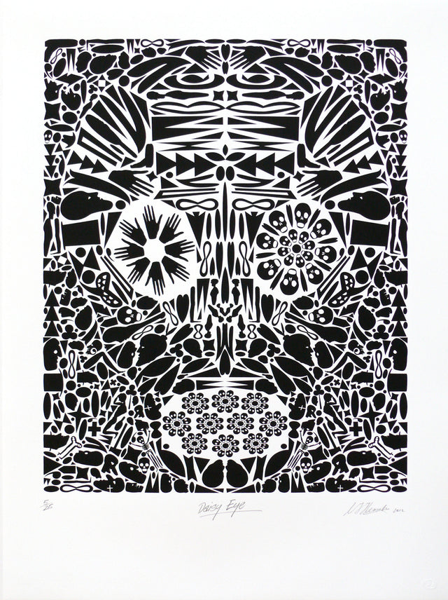 Chris Heaphy, Daisy Eye, 2012,   edition of 25,  screenprint,   paper size: 765 x 560mm