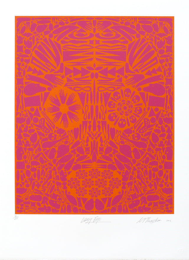 Christ Heaphy, Lazy Eye, 2012, edition of 25, screenprint, paper size: 765 x 560mm