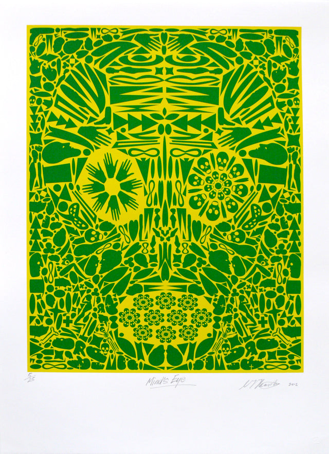 Chris Heaphy, Mind's Eye, 2012,   edition of 25,  screenprint, paper size: 765 x 560mm