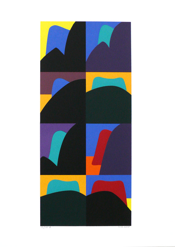 Michael Smither, Motomahunga, 2005, edition of 75,  silkscreen print,  paper size: 700 x 500mm