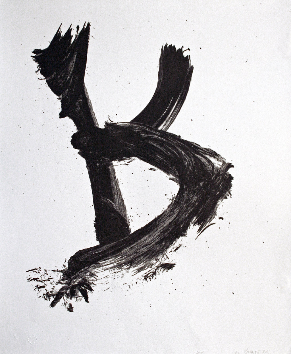 Max Gimblett, Rooster, 2001  edition of 15  lithograph  661 x 553mm