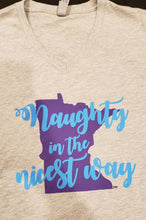 """Naughty in the nicest way"" T-shirt V-neck UNISEX - MN Nice Gifts"