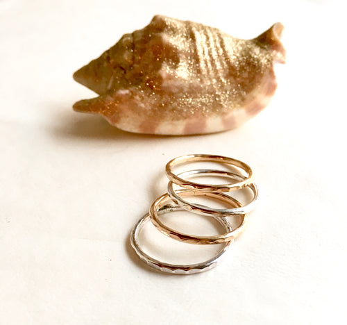 Silver and Gold Stacking Rings