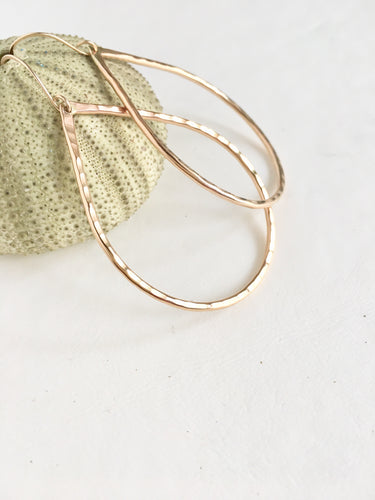 Pear Shaped Hoops