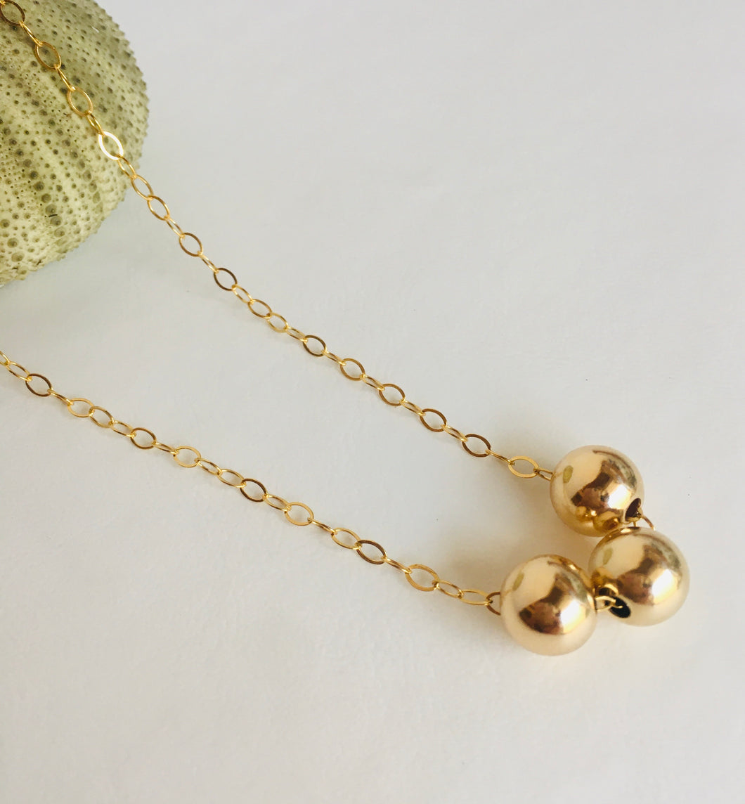 Beaded 14k Gold Filled Necklace